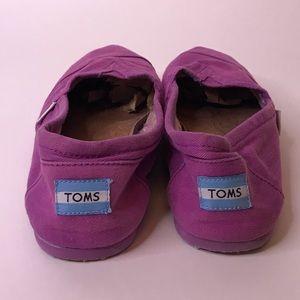 Purple Canvas Toms Shoes, 12